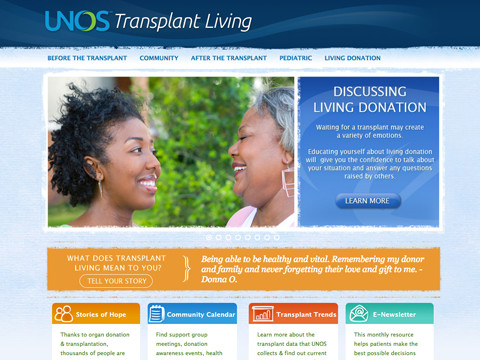 UNOS (United Network for Organ Sharing) Transplant Living