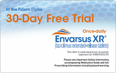 Patients can save at the pharmacy with the ENVARSUS XR $0 Co-pay offer